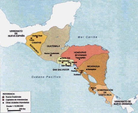 Guatemala_Intendencias virreinato